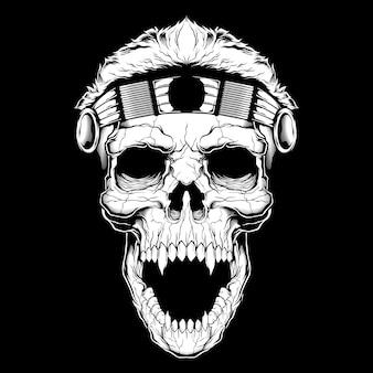 Винтажное лицо черепа