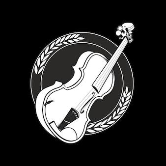 分離されたビンテージスタイルのヴァイオリン
