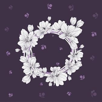 Шаблон цветов с обоями