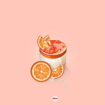 Сладкий торт апельсиновый