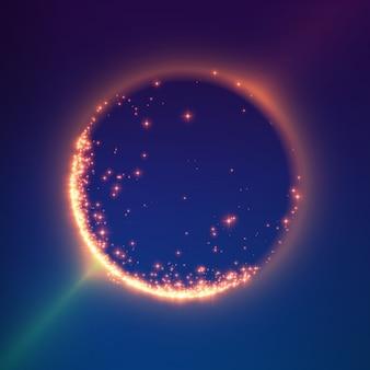 抽象的なカラフルなメッシュバックグラウンド。ブラックホールまたは特異点未来的な技術スタイル