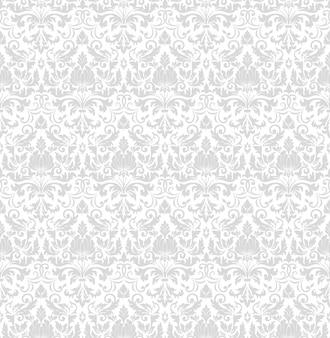ダマスク織のシームレスなパターン背景。古典的な豪華な昔ながらのダマスク織飾り、王家
