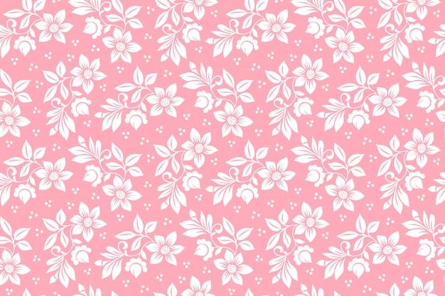 花のシームレスなパターン背景。背景のエレガントな質感。
