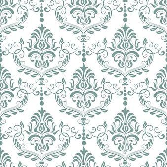 ダマスク織のシームレスなパターン背景。古典的な高級昔ながらのダマスク織飾り