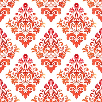 Дамасской бесшовный фон фон. элегантная роскошная текстура для обоев