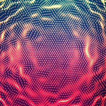 Абстрактный светящийся фон шумовой точки.