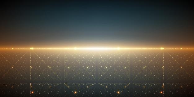 無限の空間の背景。