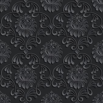 ダマスク織のシームレスなパターン背景。