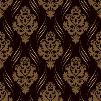 観賞用のダマスク織のシームレスパターン