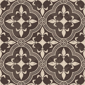 Бесшовный узор-орнамент из дамасской стали