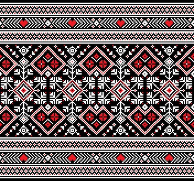 ウクライナの民俗のシームレスなパターン飾り