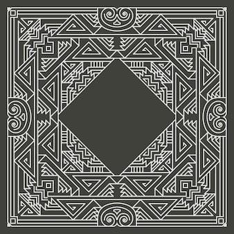 Цветочная геометрическая рамка на темном