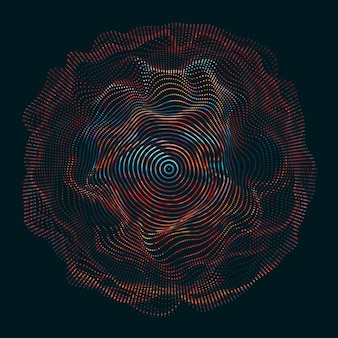 円を描く波線