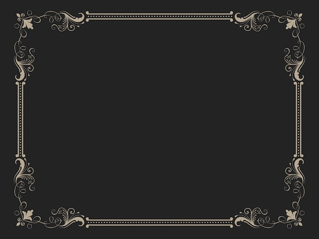 Декоративная винтажная рамка