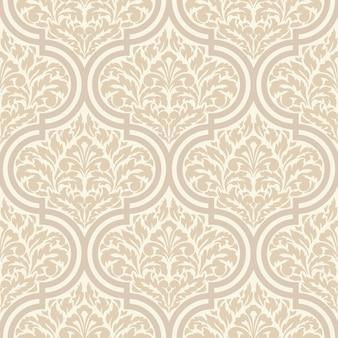 装飾的なダマスク織のシームレスパターン