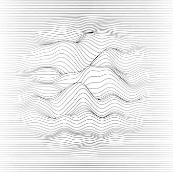 波状のぼやけた線