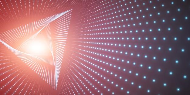 Бесконечный треугольник витой туннель и свет