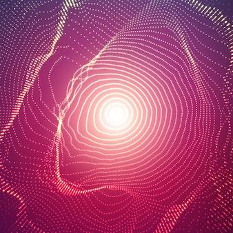 光と抽象的なメッシュ球