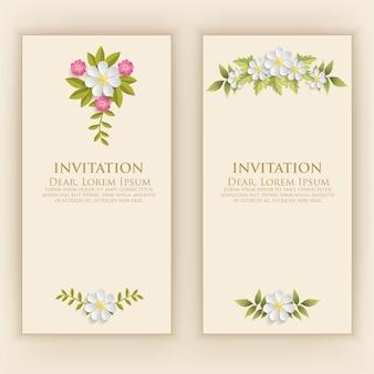 Шаблон пригласительного билета с элегантным цветочным декором