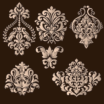 Набор дамасских декоративных элементов