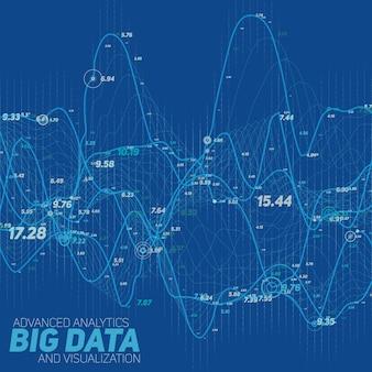 Чересстрочный графический фон данных