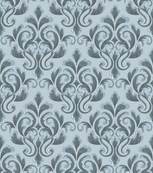 Дамаск бесшовные рельефный узор фона. классический роскошный старый дамасской орнамент, королевской викторианской бесшовных текстур. урожай изысканный цветочный шаблон барокко.