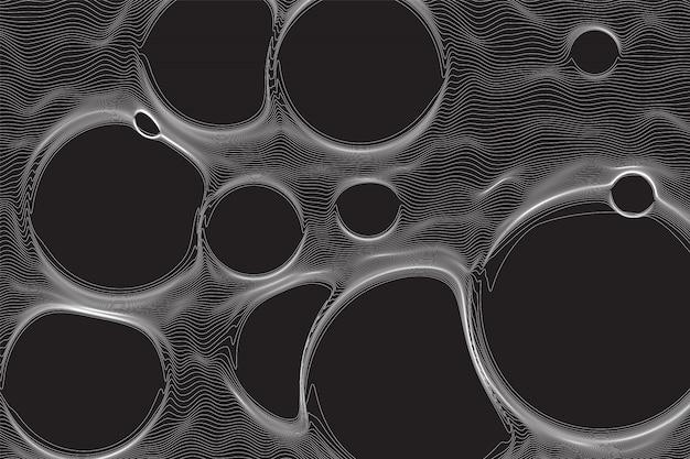 抽象的な泡のイラスト