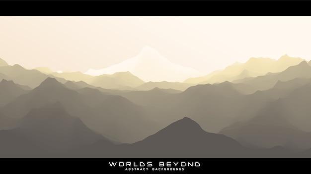 抽象的な風景を超えた世界