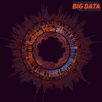 Большой фон визуализации данных