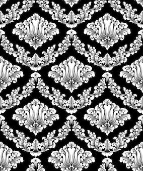 ダマスク織のシームレスなパターンベクトル