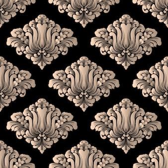 ベクトルダマスクシームレスパターン