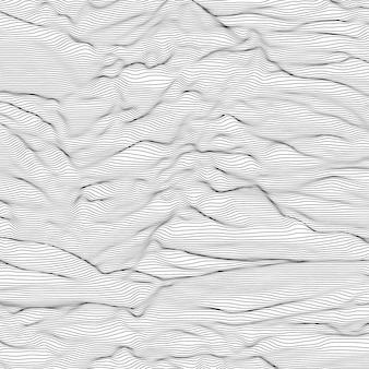 ストライプのグレースケールの背景。音波振動。