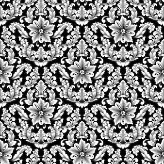 ダマスクのシームレスパターン