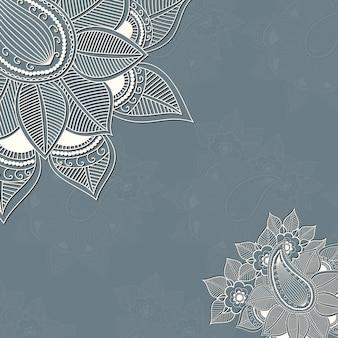 ページの装飾のためのベクトルの花のデザイン要素