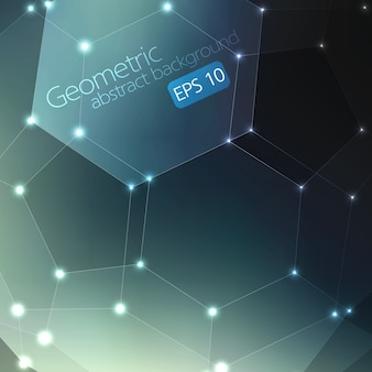 抽象的な幾何学的背景。カードや招待状の優雅な背景。フラーレン分子。