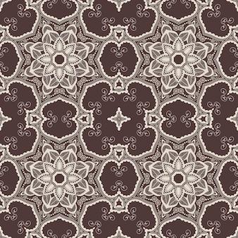 アラビア風の花のシームレスなパターンの背景