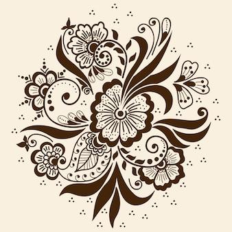 メーンディの装飾のイラスト