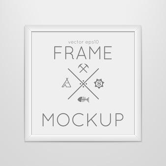 ポスター付き正方形フレームのテンプレート