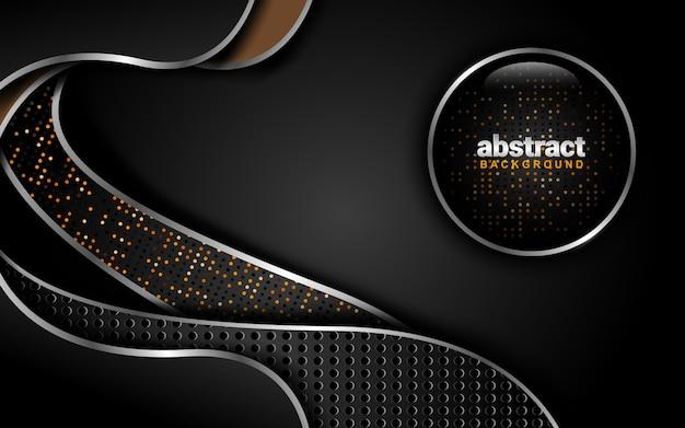 濃い色のスキームと抽象的な背景:オーバーラップレイヤースタイル