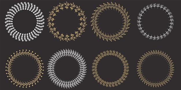 クリスマスのために花輪で設定します。ベクトル図。