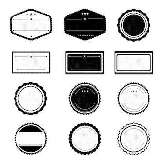 レトロバッジデザインのセット。ベクトル図。