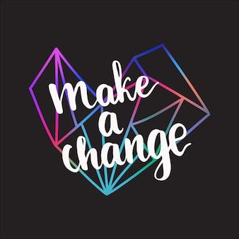 Карточка с надписью сделайте изменения.