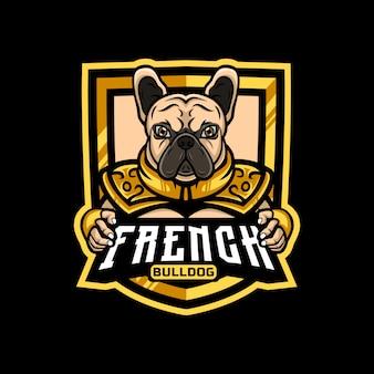 Бронированный талисман с логотипом французского бульдога