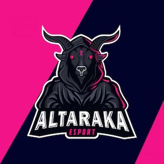 Злой демон талисман дизайн логотипа