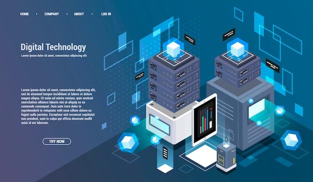 Вычисление большого центра обработки данных, обработка информации, базы данных.