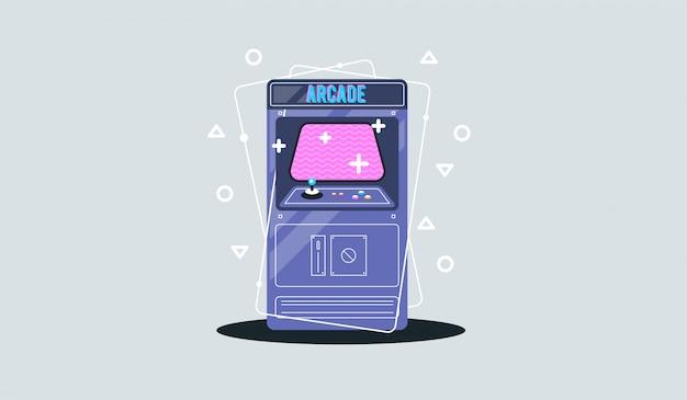 レトロなアーケードゲーム機。