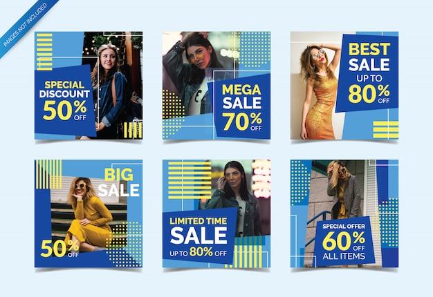 Модная распродажа для социальных сетей