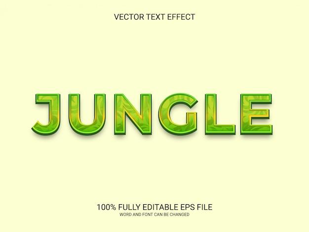 Редактируемый текстовый эффект джунглей зеленый