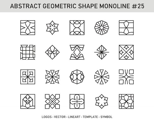 Абстрактная геометрическая коллекция иконок