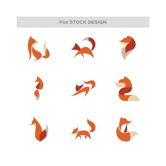 抽象的なキツネのロゴ